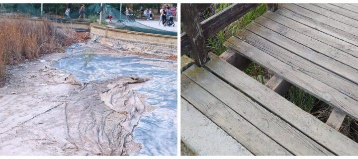 ξύλινη γέφυρα που της λείπουν ξύλα