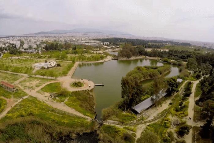 φωτογραφία από ψηλά του Πάρκου Τρίτση
